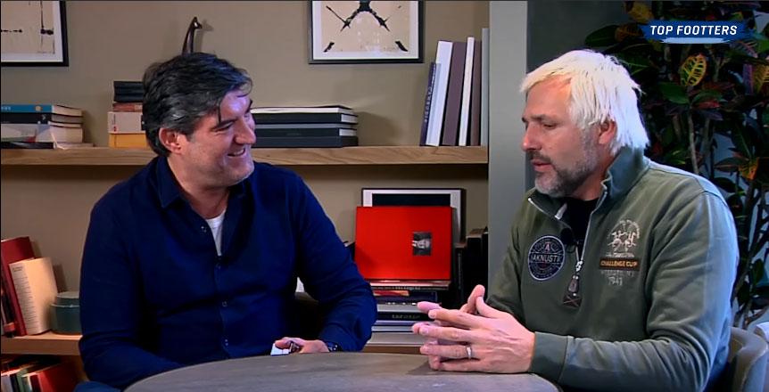 Antoñito entrevistando a Cañizares