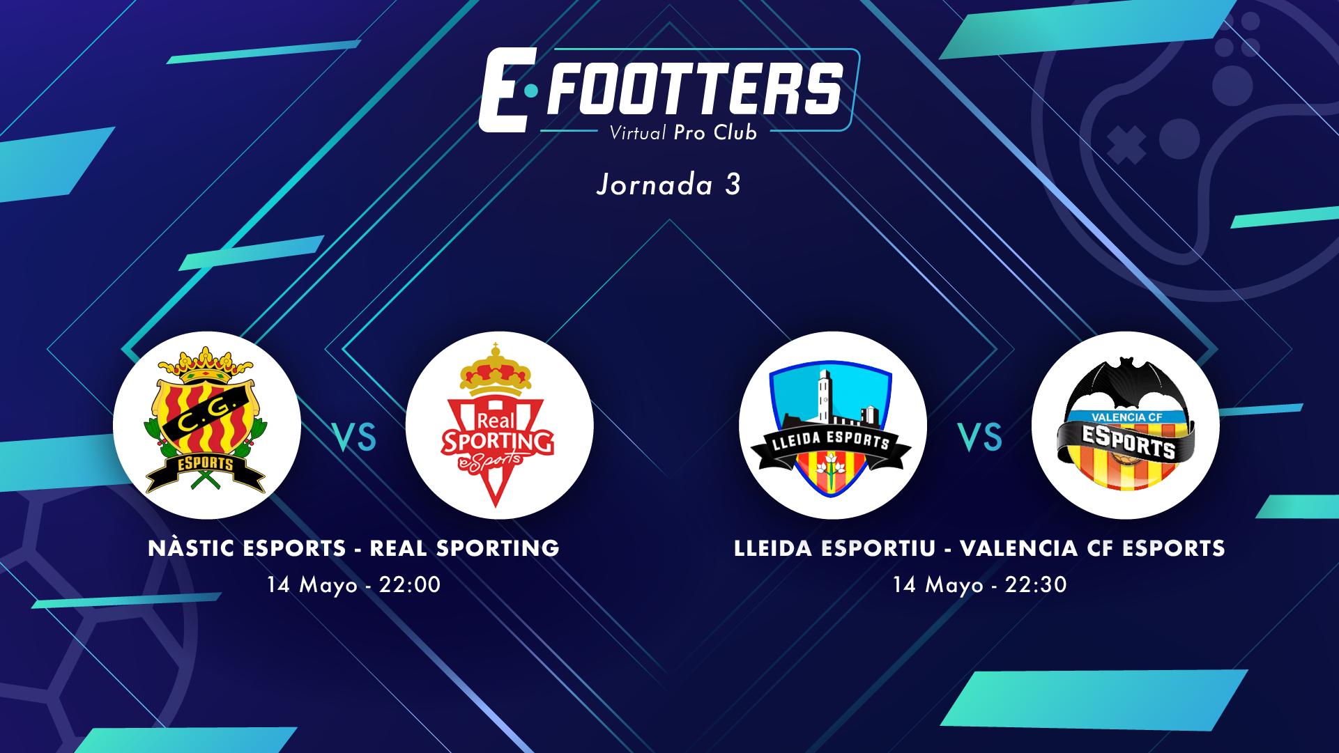 Nàsitc - Sporting y Lleida - Valencia, partidos correspondientes al día cinco de la jornada 3