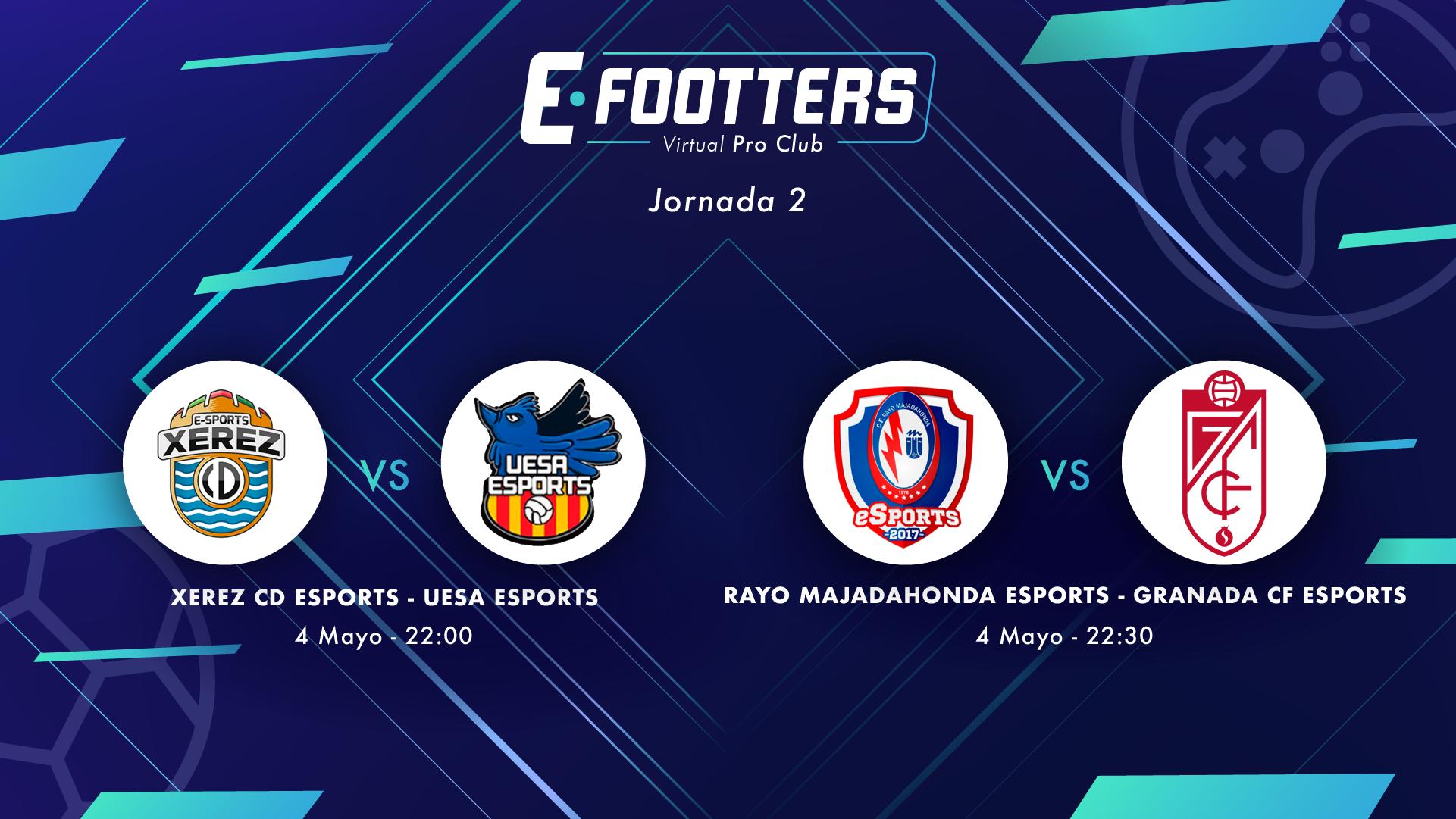 Imagen de los partidos del día 2 de la jornada 2 del Campeonato Footters