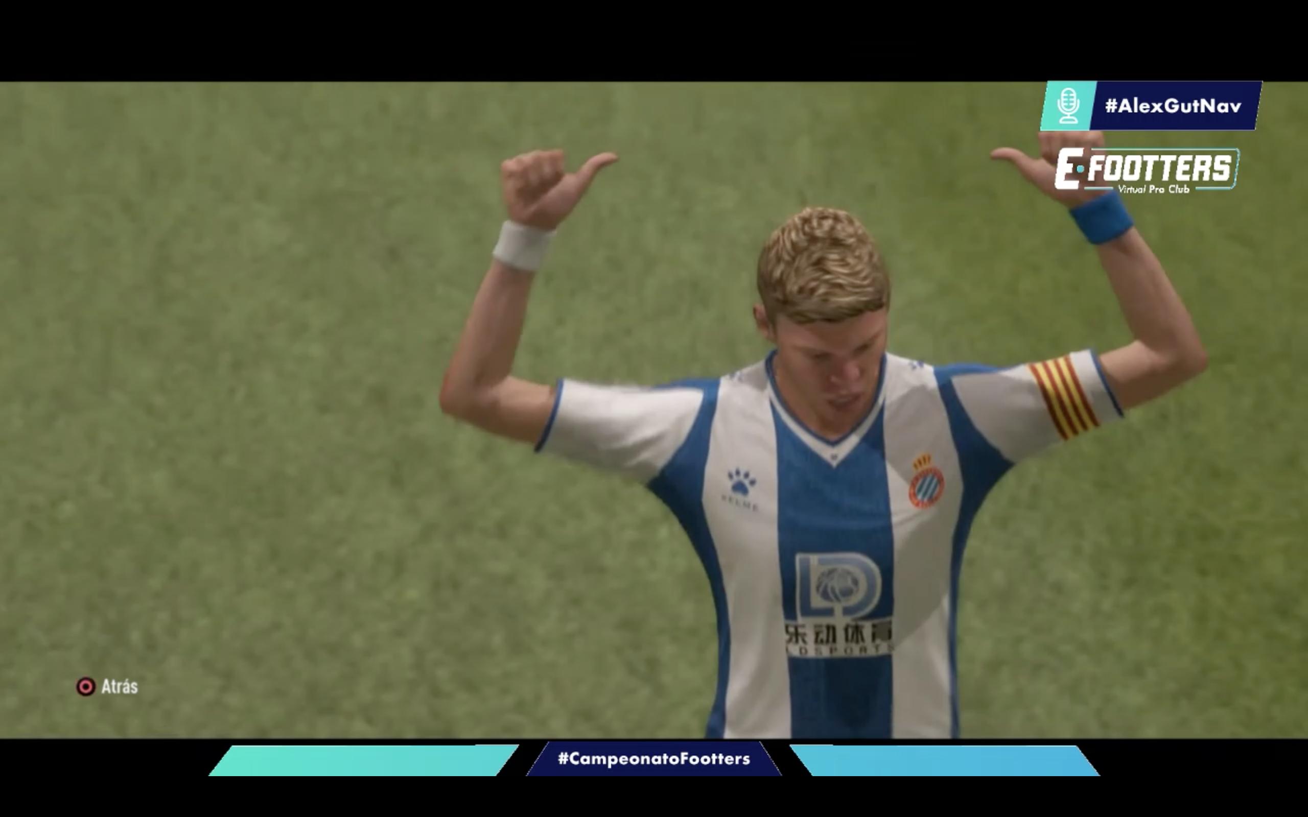 Imagen de Kilian celebrando su gol, que suponía el 0-2 para el Espanyol