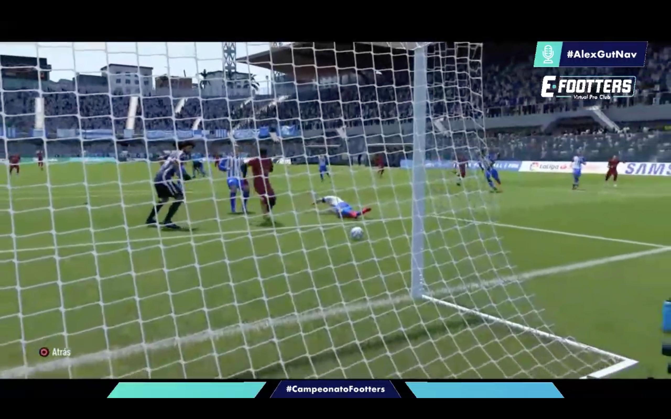 Imagen del gol en propia puerta de Iván que daba la victoria al Terrassa