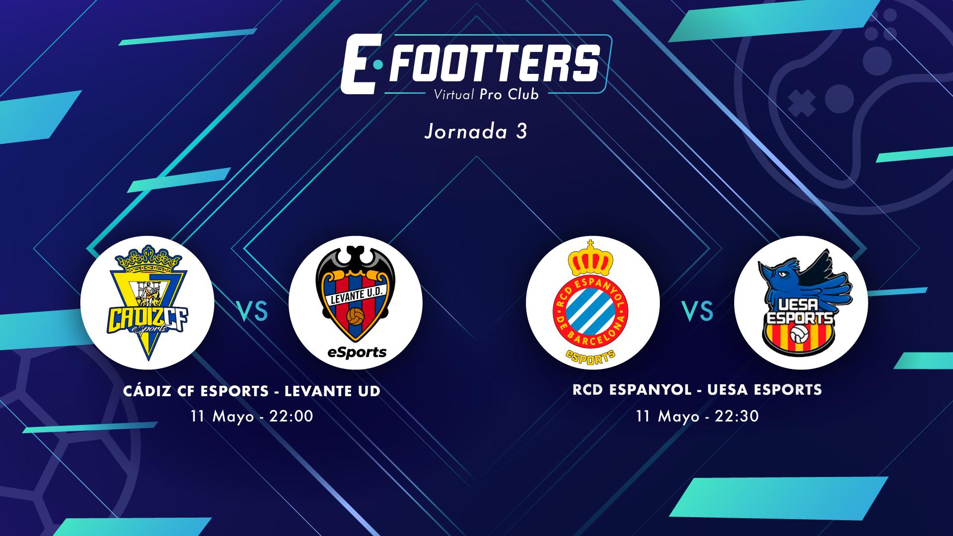 Imagen de los partidos del día dos de la jornada 3 Cádiz - Levante y Espanyol - UESA