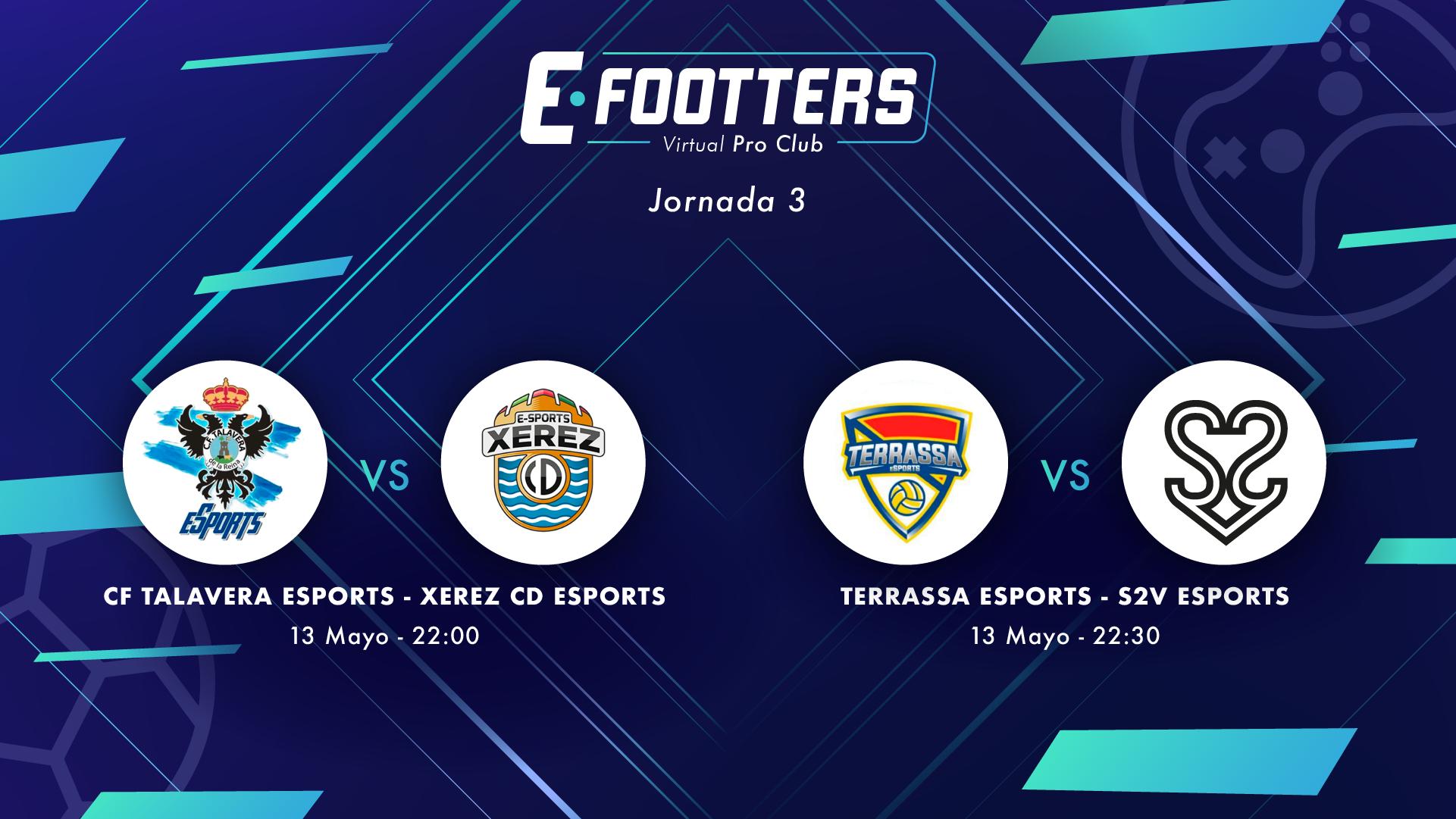 Talavera - Xerez y Terrassa - S2V, partidos correspondientes a la tercera jornada