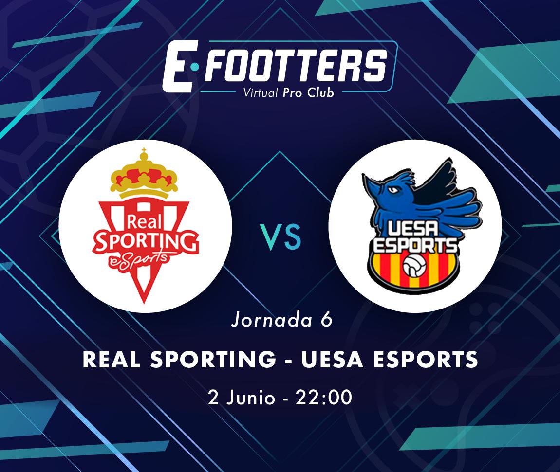 Imagen del Sporting - UESA correspondiente a la sexta jornada
