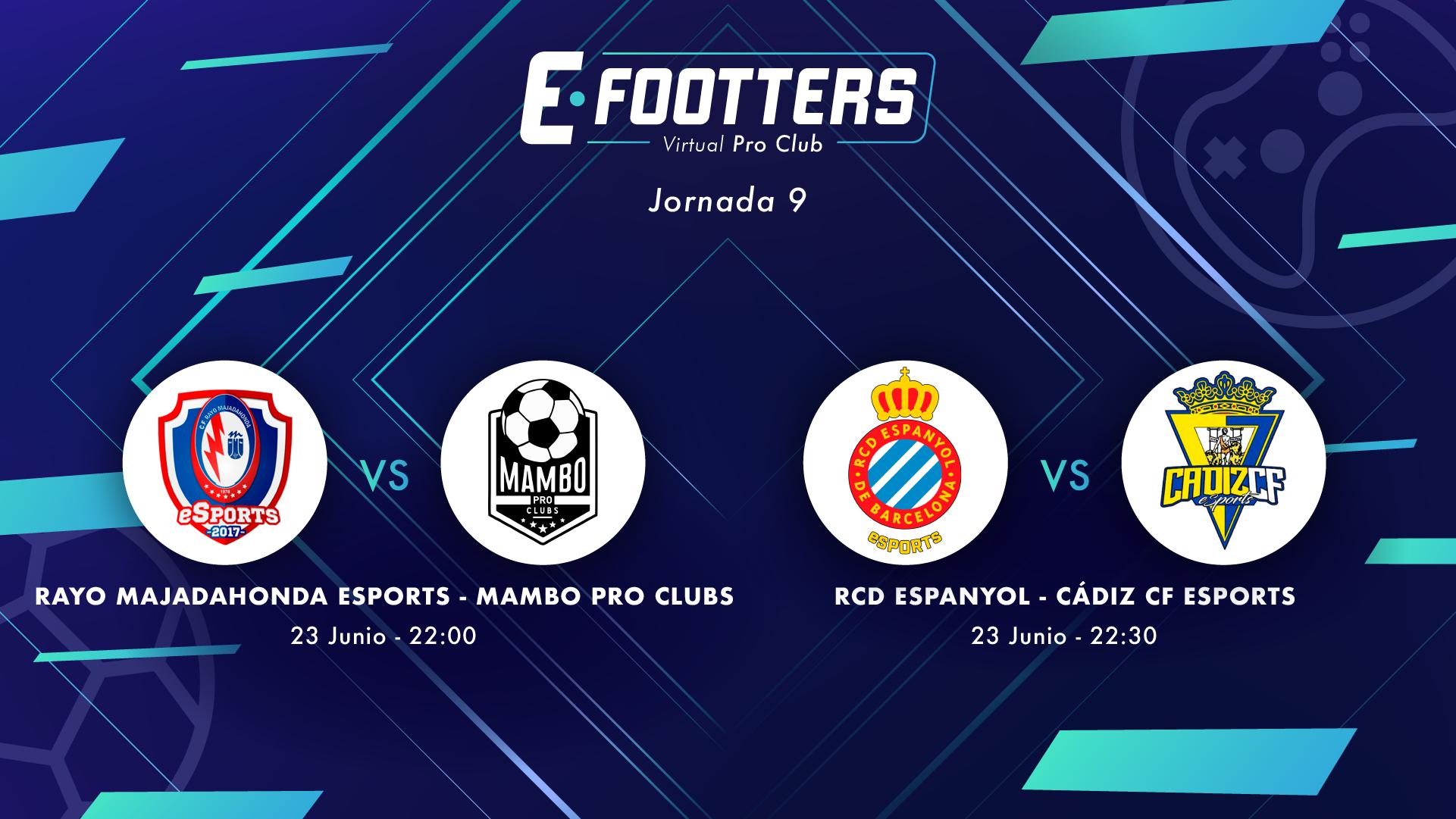 Rayo - Mambo y Espanyol - Cádiz, partidos de la jornada 9