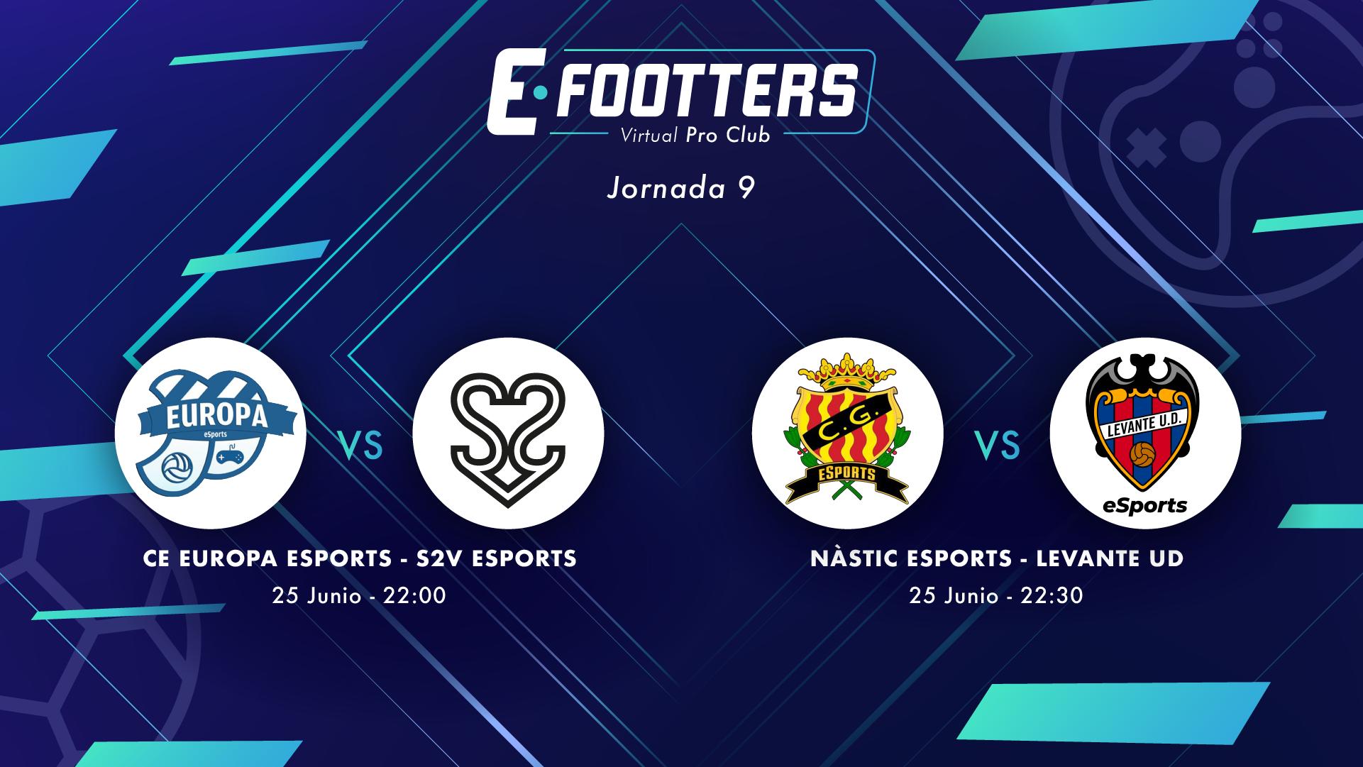 Nástic - Levante y Europa - S2V, partidos de la jornada 9