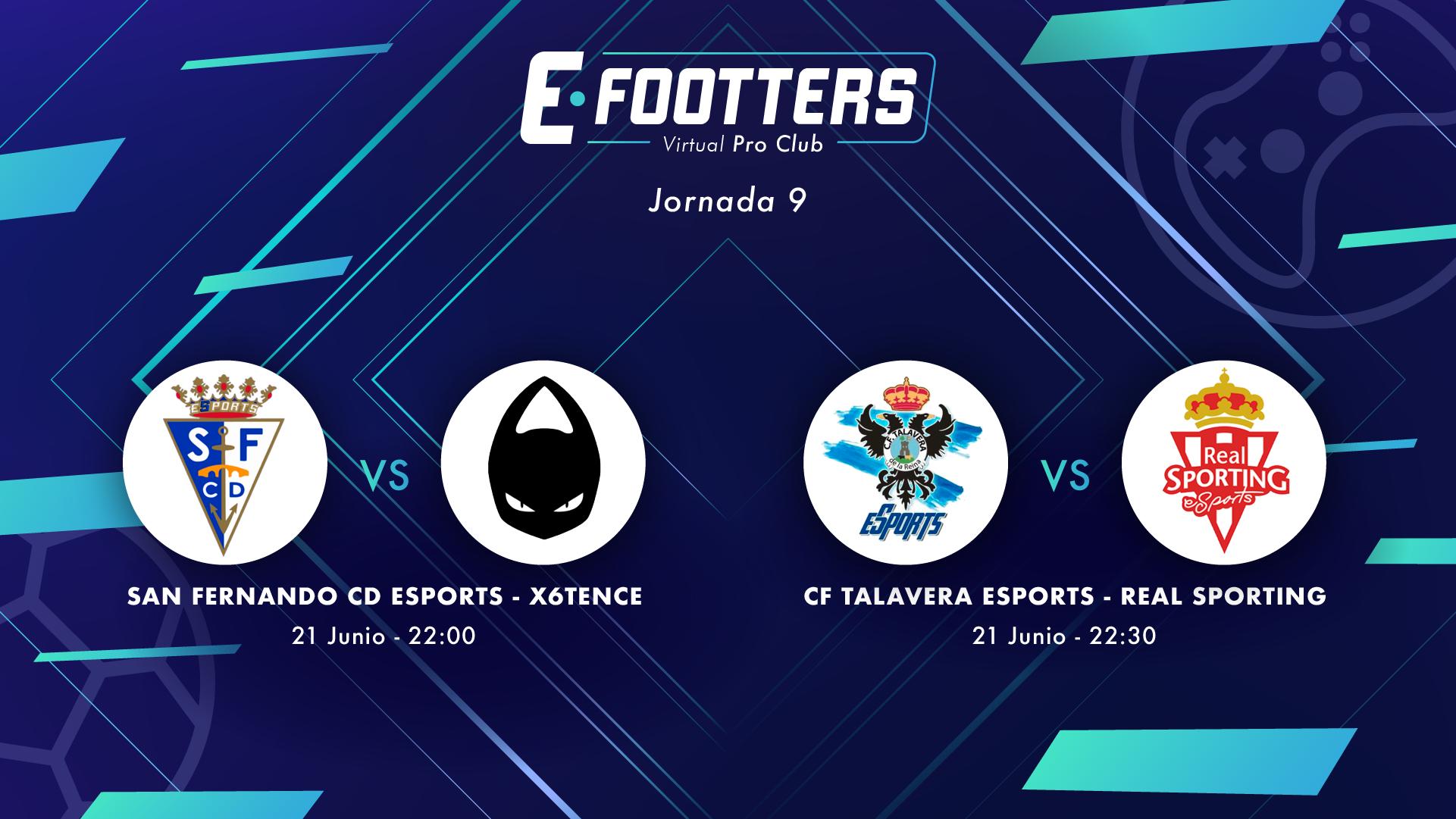 San Fernando - x6tence y Talavera - Sporting, partidos de la jornada 9